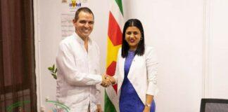 Ambassadeur Cuba op beleefdheidsbezoek bij minister Gopal