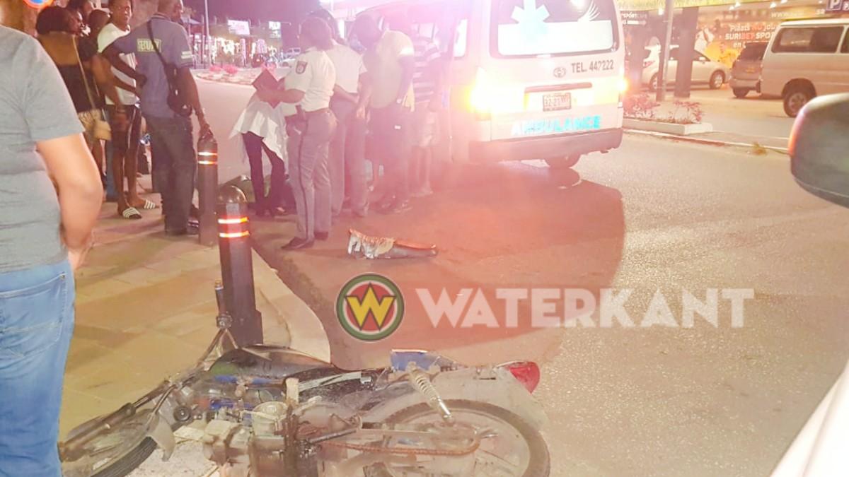 Bromfietser dodelijk aangereden in centrum Paramaribo-1