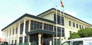 Gebouw van de Griffie der Kantongerechten in Suriname