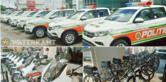 Politie 75 pick-ups, 50 motorfietsen en 80 fietsen
