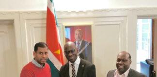 De Surinaamse Ambassade in Nederland feliciteert het Surinaams Elftal