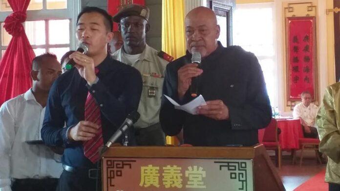 President Bouterse bij viering Chinees Nieuwjaar in Suriname