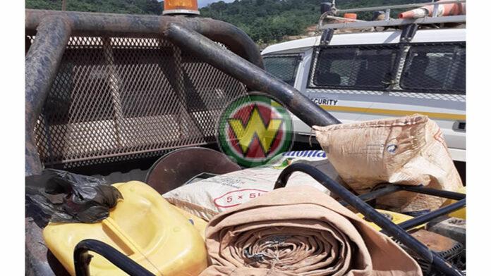 Spullen van illegale goudzoekers in consessiegebied Iamgold in beslag genomen