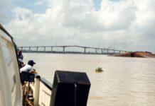 baggeren van Surinamerivier