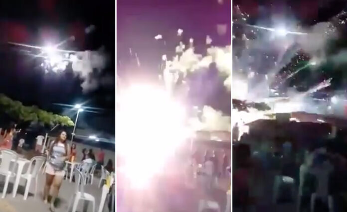 Filmpje van vuurwerkexplosie niet van ongeluk op oudjaarsdag in Suriname