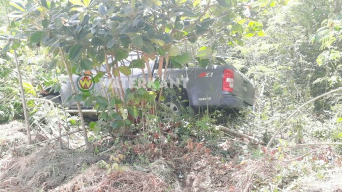 Dienstauto onbeheerd achtergelaten in bosschage-3
