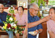 Echtpaar Tahal - Achaibersing 60 jaar gelukkig getrouwd