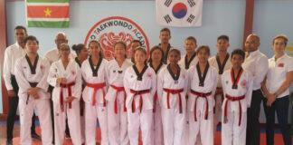 Twaalf geslaagd voor Dan graad bij Kimmoo Taekwondo Academy Suriname