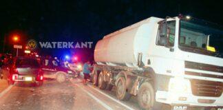 Terreinwagen knalt met volle vaart op tankwagen