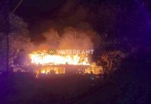 Woonhuis in Suriname compleet verwoest door brand