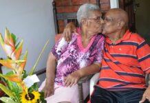 Echtpaar Dompig - Clark 60 jaar gelukkig getrouwd