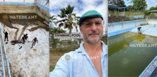 Kunstenaar wil oud, vervallen en ongebruikt Suralco zwembad renoveren