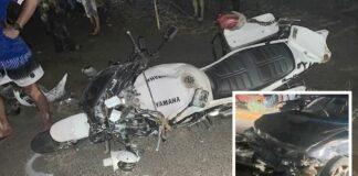 Motoragent dood na aanrijding te Saramacca