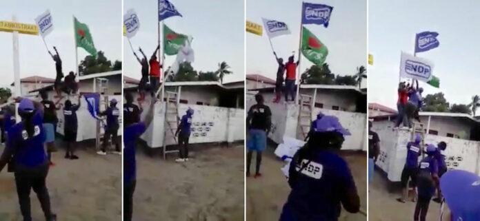 VIDEO: NPS hekelt actie van NDP'ers die aan vlaggen NPS komen