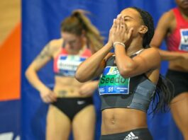 N'ketia Seedo pakt goud tijdens NK Indoor Atletiek