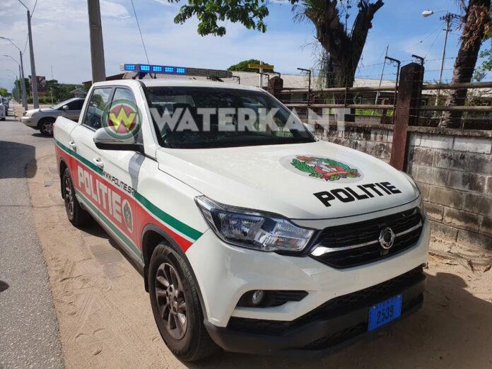 Politie auto in Suriname