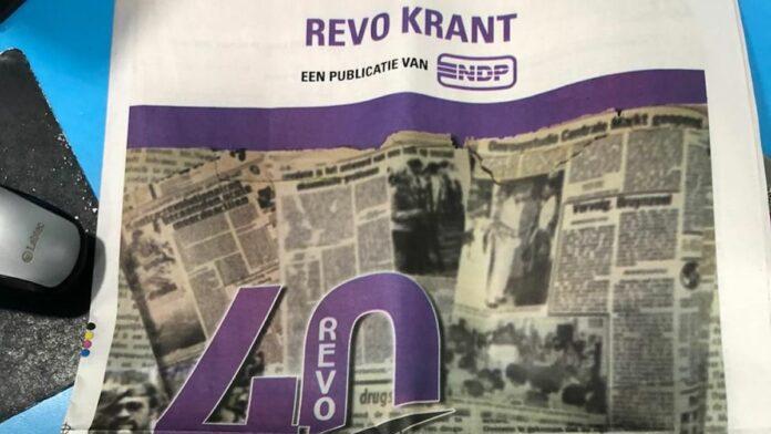 Times brengt 16 pagina's tellende 'Revo krant' van NDP uit