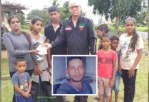 Doodgekapte zoon laat vrouw en zeven kinderen achter