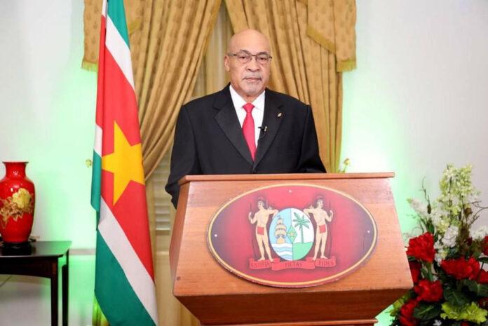Live toespraak van Surinaamse president Bouterse over coronavirus