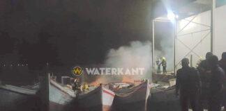 Twee mannen aangehouden na in brand steken vissersboten