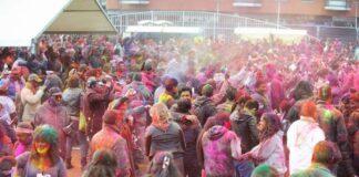 Uitbundige Holi viering op dinsdag 10 maart in Den Haag