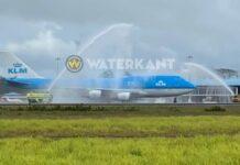 VIDEO: Zanderij neemt afscheid van KLM Boeing 747-400