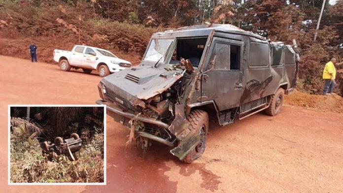 Vier militairen gewond na ongeval met legervoertuig in Suriname