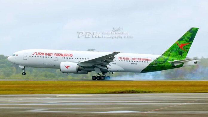 VIDEO: SLM voert testvluchten met 'nieuw' toestel uit in Suriname