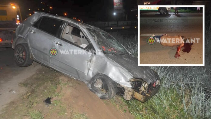 Automobilist die chaos veroorzaakte zwaar gewond