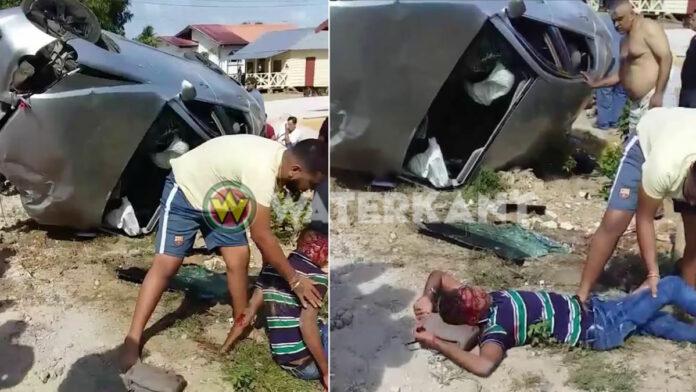 Zeven gewonden bij zware aanrijding te Saramacca