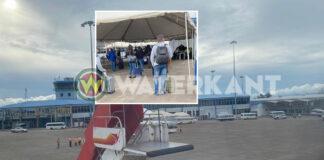 Eerste repatriatie vlucht in Suriname aangekomen
