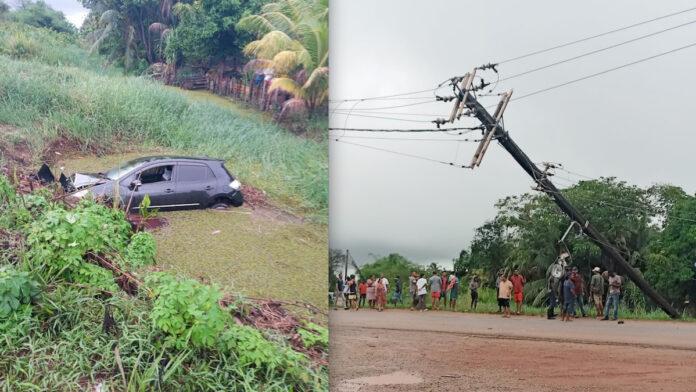 Buurt zonder stroom nadat voertuig tegen mast knalt