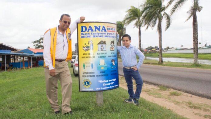 Ondernemer lanceert preventie‐campagne over coronavirus in Suriname