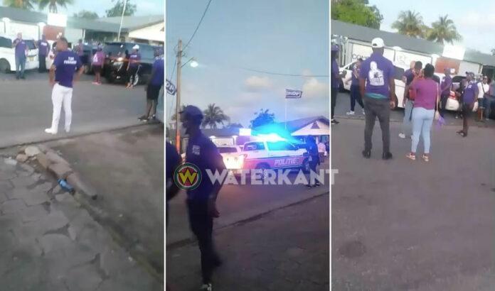 VIDEO: Politie stopt NDP bijeenkomst na breken coronaregels