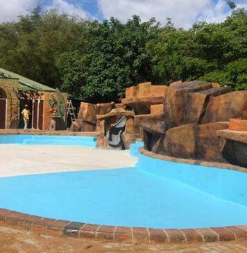 Foto's: Nieuw kinderwaterpark in dierentuin Suriname bijna af