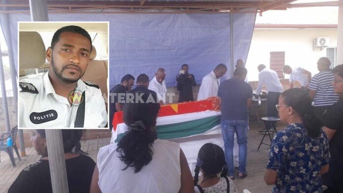 Vandaag uitvaart van verongelukte agent van politie in Suriname
