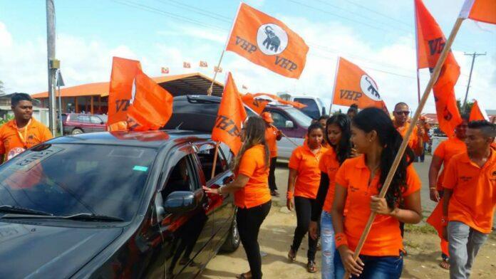 VHP pakt 4 zetels in Nickerie, NDP 1