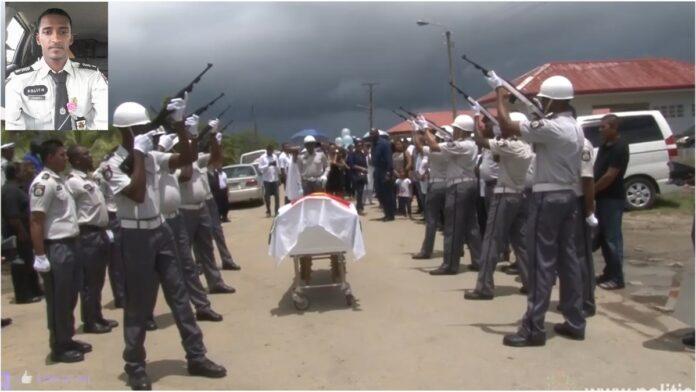VIDEO: Uitvaart van verongelukte politieagent in Suriname