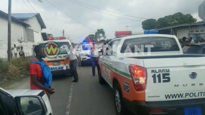 ambulance en politie zwaar in actie suriname