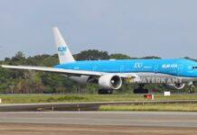 KLM vlucht geland in Suriname, vliegt maandag terug naar Schiphol