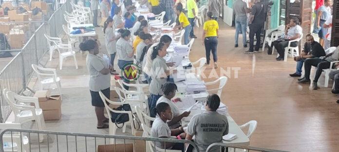 Hoofdstembureau Paramaribo begonnen met screenen proces-verbalen