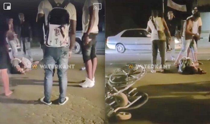 Man in rolstoel aangereden op de Indira Gandhiweg