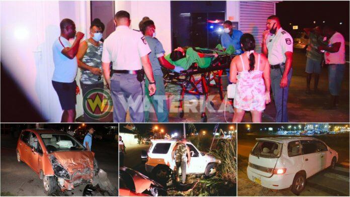 Jongedame veroorzaakt zware aanrijding tussen drie voertuigen Ringweg-Zuid