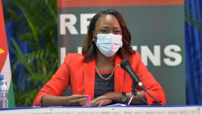 Majoor Gwendoline Babel onderdirecteur van het Directoraat Nationale Veiligheid Suriname