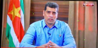Vice-president bevestigd total lockdown in Suriname tot 12 juni