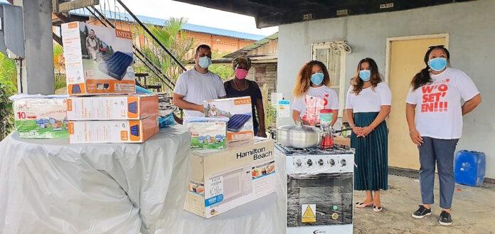 Donatie voor familie wiens huis vorige week afbrandde
