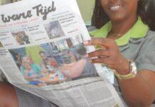 Dagblad Suriname en De Ware Tijd komen woensdag niet uit, Times gratis bezorgd