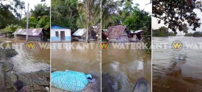 VIDEO: Wateroverlast in zuiden van Suriname door zware regenval