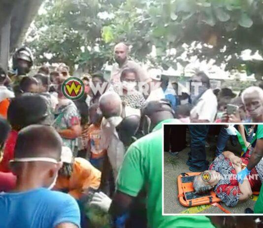 VIDEO: Drukte en chaotische toestanden bij uitreiking COVID-19 pakketten in Nickerie