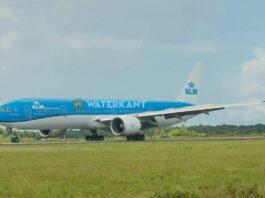 KLM vliegt vanaf 13 juli 2 keer per week van Suriname naar Nederland